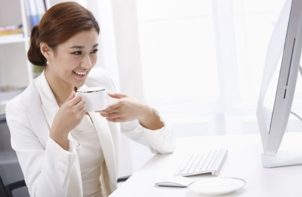female-worker-with-coffee